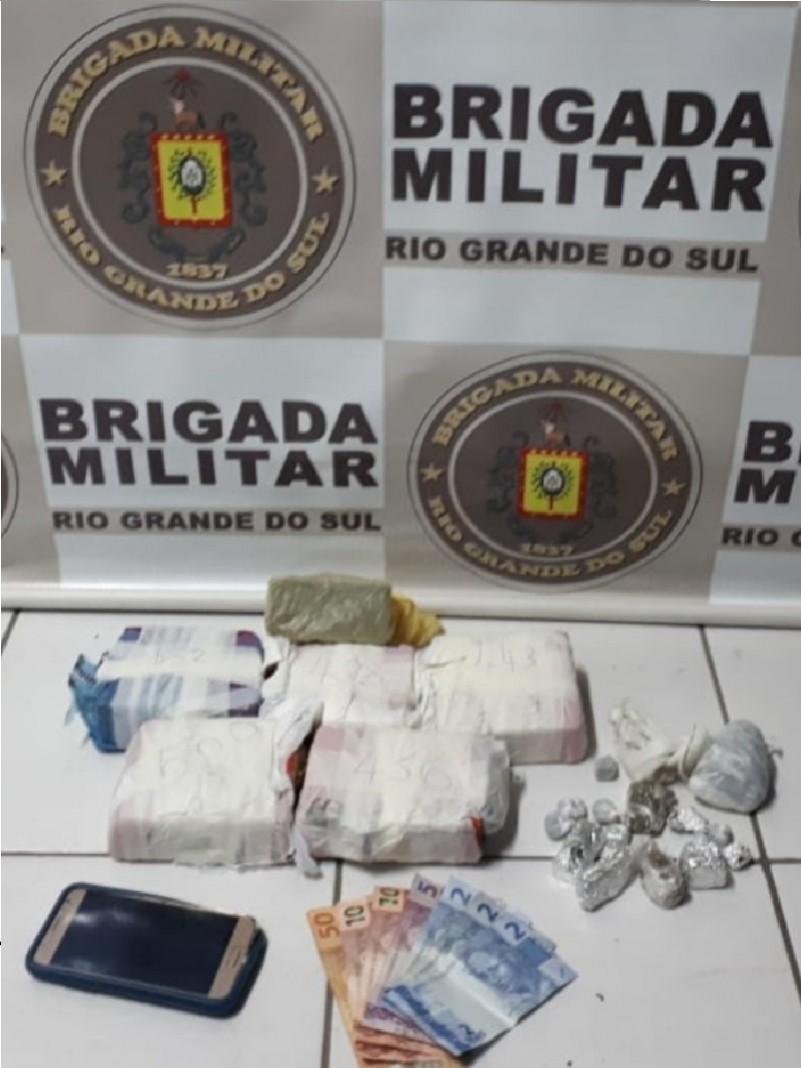 Material apreendido em Rio Grande